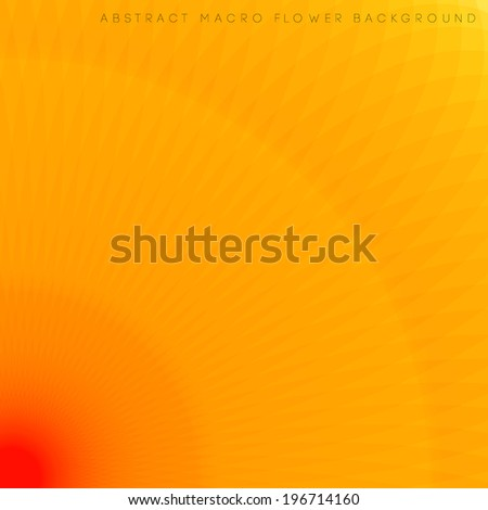 Macro flower background, abstract natural concept illustration - stock vector