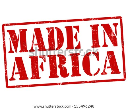 Made in Africa grunge rubber stamp on white, vector illustration