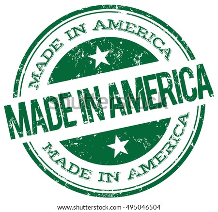 Made in America green stamp