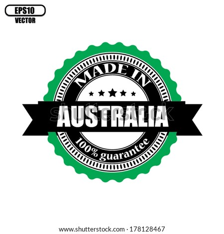 Made in  Australia labels, badges, stickers and symbols - Vector Eps 10.