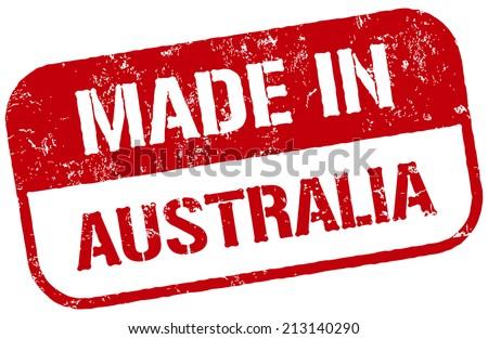made in australia stamp - stock vector