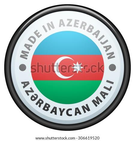 Made in Azerbaijan (non-English text - Azerbaijan goods) - stock vector