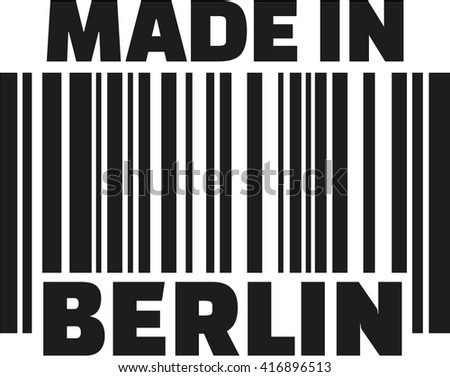 Made in Berlin barcode