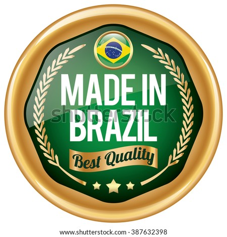 made in brazil icon - stock vector