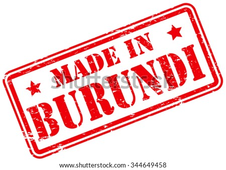 Made in Burundi Rubber Stamp