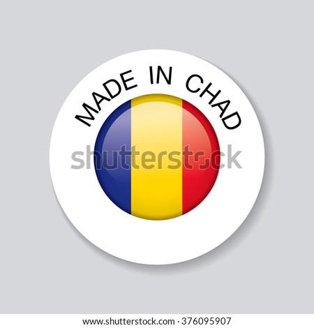 made in chad. template icon design