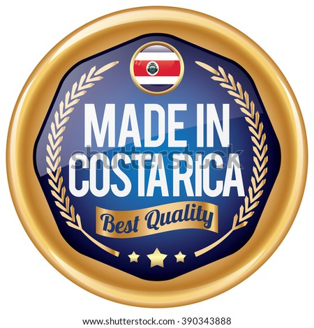 made in costa rica icon - stock vector