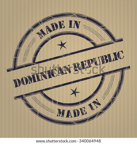 """Made in """" Dominican Republic"""" grunge rubber stamp - stock vector"""