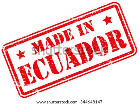 Made in Ecuador Rubber Stamp