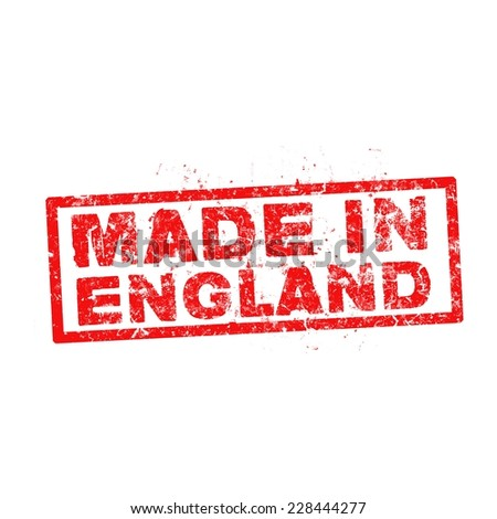 made in england red stamp vector.