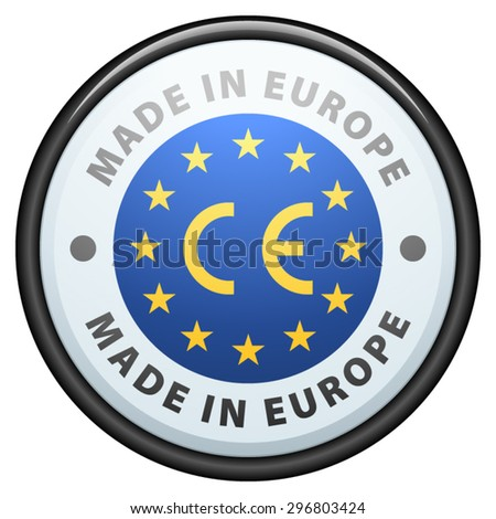 Made in Europe - stock vector