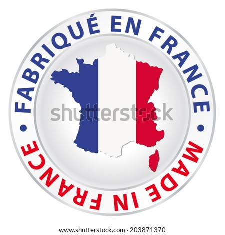 Made in France. Vector product label. - stock vector
