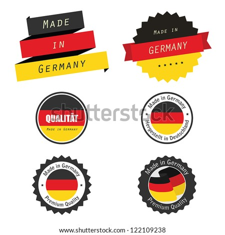 Made in Germany labels, badges and stickers - stock vector