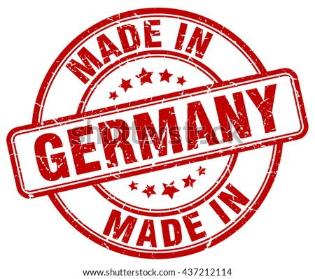 made in Germany red round vintage stamp.Germany stamp.Germany seal.Germany tag.Germany.Germany sign.Germany.Germany label.stamp.made.in.made in. - stock vector