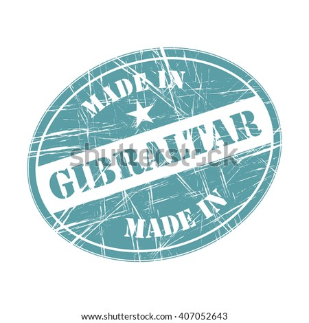Made in Gibraltar rubber stamp