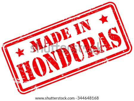 Made in Honduras Rubber Stamp - stock vector
