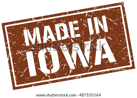 made in Iowa stamp. Iowa grunge vintage isolated square stamp. made in Iowa