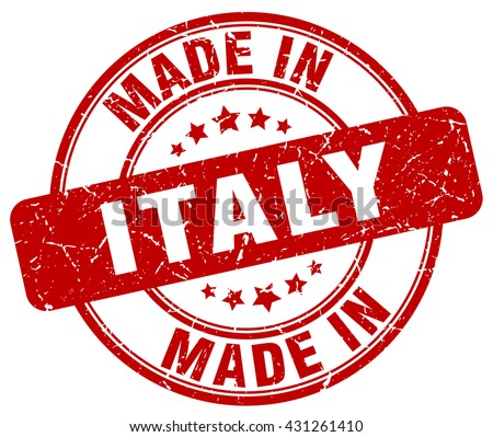 made in Italy red round vintage stamp.Italy stamp.Italy seal.Italy tag.Italy.Italy sign.Italy.Italy label.stamp.made.in.made in.