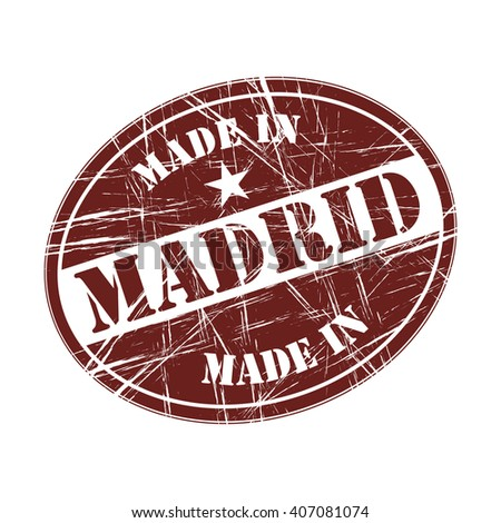 Made in Madrid rubber stamp - stock vector