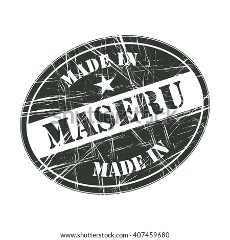 Made in Maseru rubber stamp - stock vector