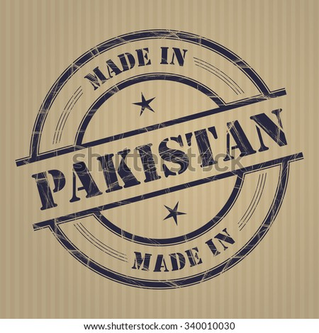 Made in Pakistan grunge rubber stamp - stock vector