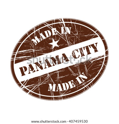 Made in Panama City rubber stamp - stock vector