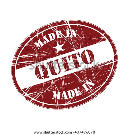 Made in Quito rubber stamp - stock vector