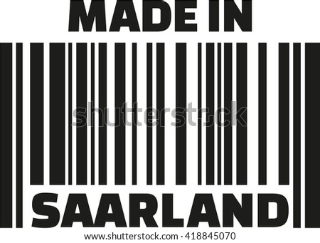Made in Saarland barcode