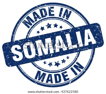 made in Somalia blue round vintage stamp.Somalia stamp.Somalia seal.Somalia tag.Somalia.Somalia sign.Somalia.Somalia label.stamp.made.in.made in. - stock vector