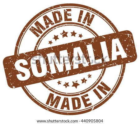 made in Somalia brown round vintage stamp.Somalia stamp.Somalia seal.Somalia tag.Somalia.Somalia sign.Somalia.Somalia label.stamp.made.in.made in. - stock vector