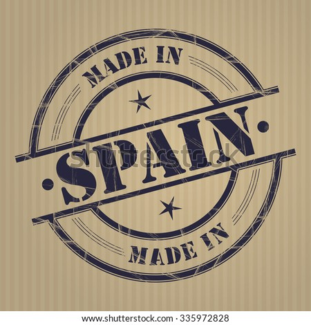 Made in Spain grunge rubber stamp - stock vector