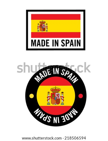 Made in Spain Icon Set - Vector - stock vector