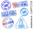 Made in the UK. Rubber stamp vector illustrations - stock photo