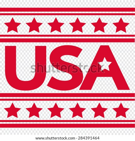 Made in the USA - stock vector