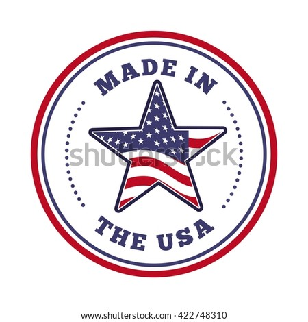 made in the usa design  - stock vector