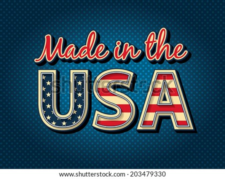 Made in the USA. EPS 8, CMYK - stock vector