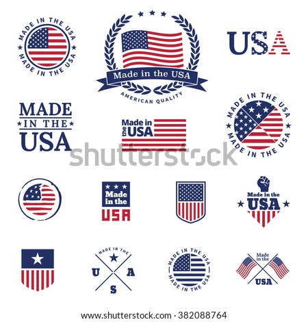 Made in the USA - signs and labels vector collection. - stock vector