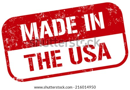 made in the usa stamp - stock vector