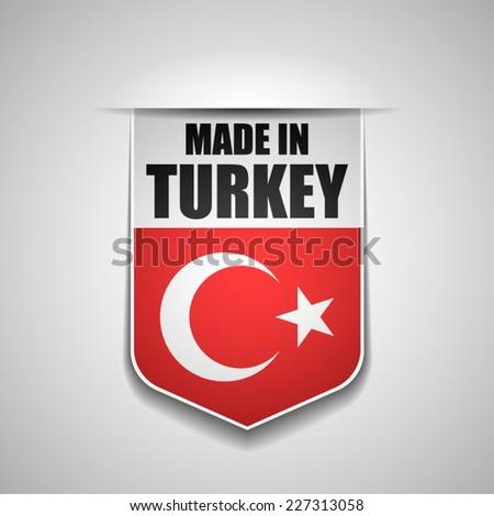 Made in Turkey - stock vector