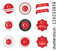 Made in Turkey labels, badges and stickers - stock vector