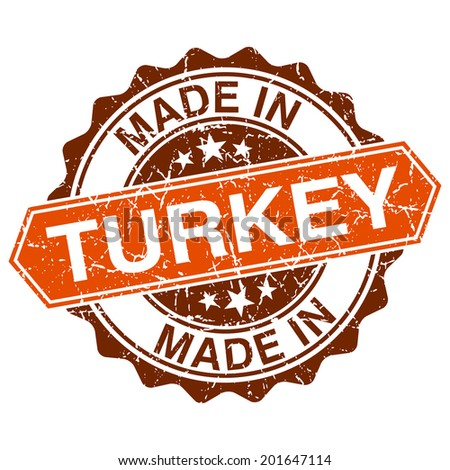 made in Turkey vintage stamp isolated on white background - stock vector