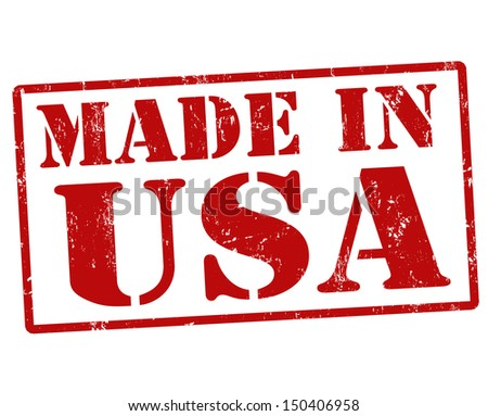 Made in USA grunge rubber stamp on white background, vector illustration - stock vector