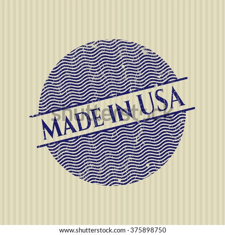 Made in USA rubber texture - stock vector