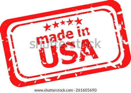 Made in USA stamp - stock vector
