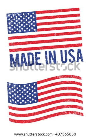 Made in USA stamps 3 - stock vector