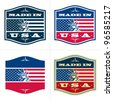 Made in USA. Vector badge, label. - stock photo