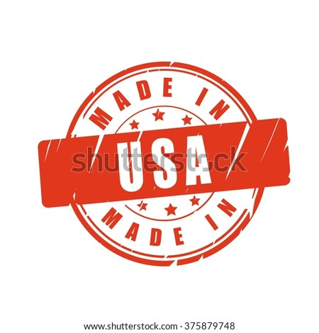 Made in USA vector illustration stamp - stock vector