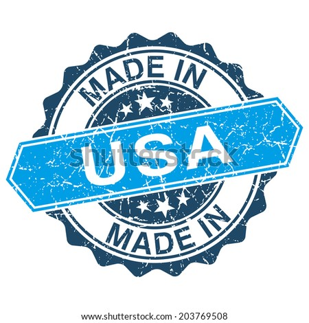 made in USA vintage stamp isolated on white background - stock vector