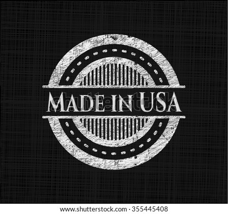 Made in USA with chalkboard texture - stock vector