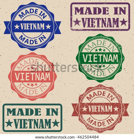 Made in Vietnam rubber stamp.Vector illustration